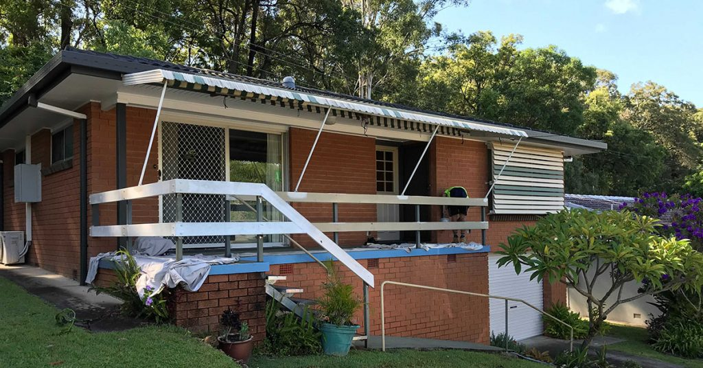 Sunshine Coast commercial painters working on Buderim Gardens